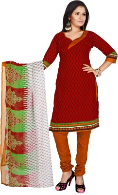 Khushali Crepe Self Design, Printed Dress/Top Material