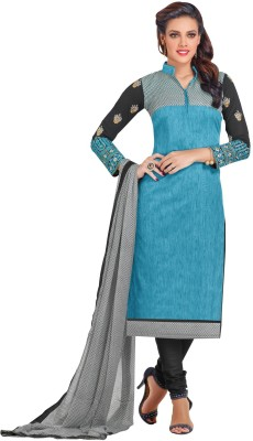 Loot Lo Creation Cotton Embroidered Semi-stitched Salwar Suit Dupatta Material