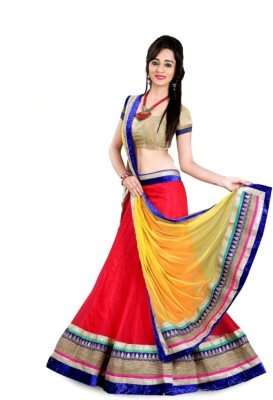 madhav enterprise Net Self Design Lehenga Choli Material
