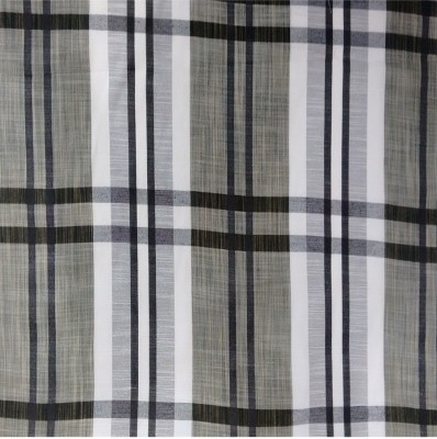Stripes Cotton Polyester Blend Checkered Shirt Fabric