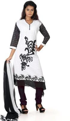 B3 Fashion Cotton Solid Semi-stitched Salwar Suit Dupatta Material