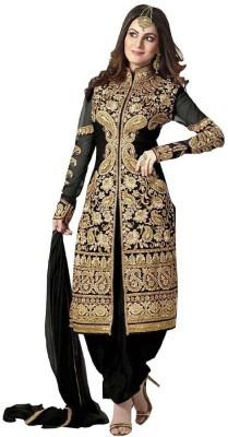 N Paraswanath Georgette Embroidered Salwar Suit Dupatta Material