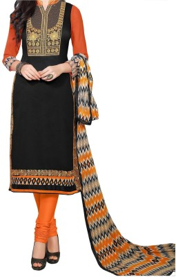 Sunrise International Georgette Embroidered Semi-stitched Salwar Suit Dupatta Material