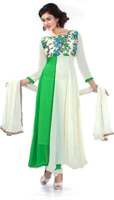 1 TOp::1 Bottom::1 Duptta Georgette Embroidered Salwar Suit Dupatta Material
