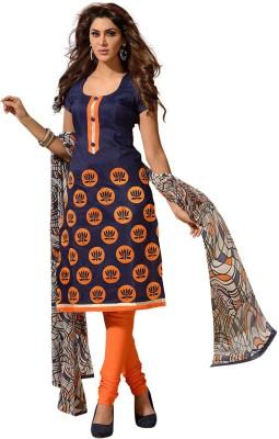 Fabdeal Cotton Floral Print Salwar Suit Dupatta Material