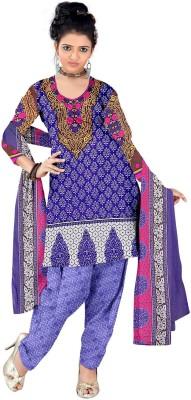 Varni Retail Crepe, Synthetic Printed, Self Design Salwar Suit Dupatta Material