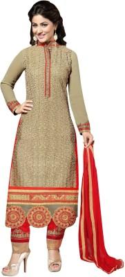 Pahel Georgette Self Design Semi-stitched Salwar Suit Dupatta Material