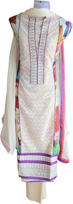 Anokhi Athnic Cotton Silk Blend Embroidered Salwar Suit Dupatta Material