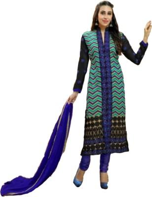 Trendin Stylers Georgette Printed Salwar Suit Dupatta Material