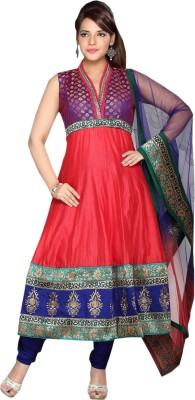 tantaka silks Synthetic Georgette Embroidered Salwar Suit Dupatta Material