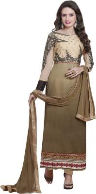 We Desi Crepe Embroidered Semi-stitched Salwar Suit Dupatta Material
