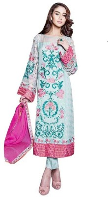 wrap it up Chiffon Embroidered Salwar Suit Dupatta Material