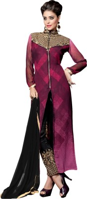 Desi Look Georgette Self Design Salwar Suit Dupatta Material
