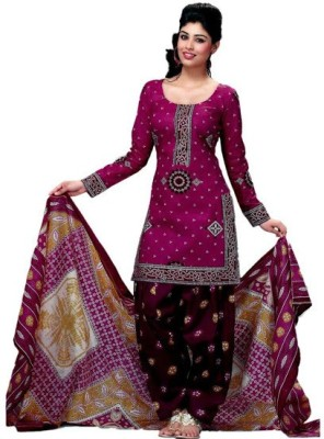 FastColors Cotton Printed Salwar Suit Dupatta Material(Un-stitched)