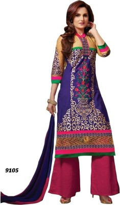 Shoppie Zone Cotton Embroidered Salwar Suit Dupatta Material