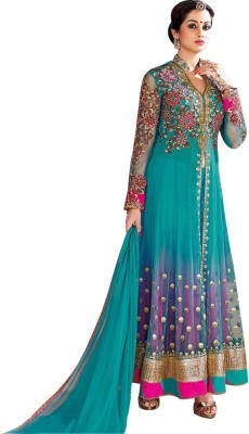 Design Desk Georgette Self Design Semi-stitched Salwar Suit Dupatta Material