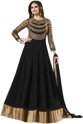 Kaladin Georgette Embroidered Semi-stitched Salwar Suit Dupatta Material