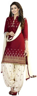 RockChin Fashions Cotton Embroidered Salwar Suit Dupatta Material