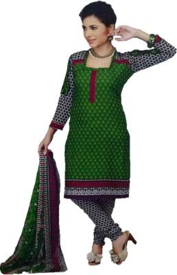 Tanisha Cotton Self Design Semi-stitched Salwar Suit Dupatta Material