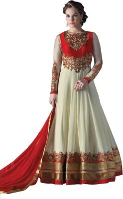 mGm Creation Georgette, Chiffon Self Design Semi-stitched Salwar Suit Dupatta Material