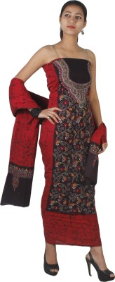 Kantha Store Cotton Embroidered Salwar Suit Dupatta Material