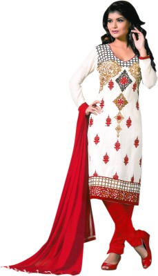 Mishika Fashions Cotton Embroidered Salwar Suit Dupatta Material