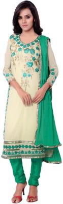 Manthan Georgette Embroidered Salwar Suit Dupatta Material