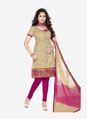 Varsha 6157 Cotton Embroidered Salwar Suit Dupatta Material