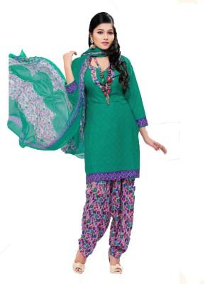 Bdow Crepe Printed Salwar Suit Dupatta Material