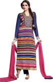 Adah Fashions Georgette Embroidered Salw...