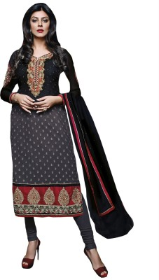 Admyrin Georgette Embroidered Dress/Top Material