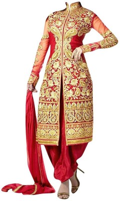 Redqueen Fashion Georgette Embroidered Dress/Top Material