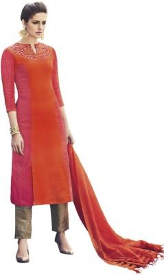 Heart & Soul Silk Embroidered Salwar Suit Dupatta Material
