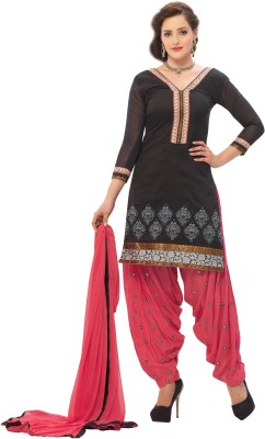 BanoRani Chanderi Embroidered Dress/Top Material(Un-stitched) at flipkart