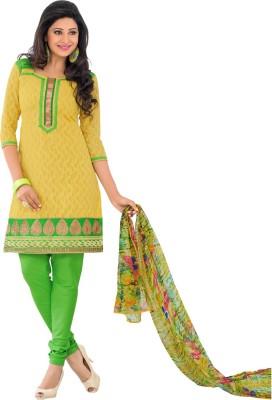 Saara Cotton Self Design Dress/Top Material(Un-stitched) at flipkart