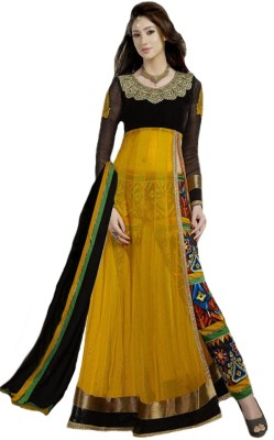 Suitevilla Net Embroidered Semi-stitched Salwar Suit Dupatta Material