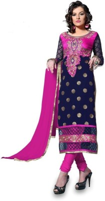 Shree Sai Exports Georgette Self Design Semi-stitched Salwar Suit Dupatta Material