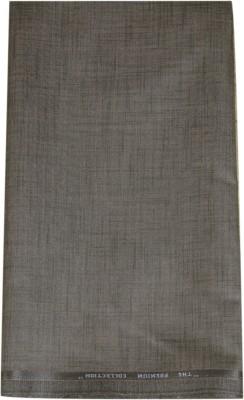 Kundan Cotton Polyester Blend, Linen Self Design Trouser Fabric