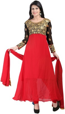 Ecoco Georgette Solid, Embroidered Salwar Suit Dupatta Material