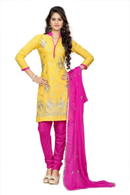 MADA Cotton Embroidered Salwar Suit Dupatta Material