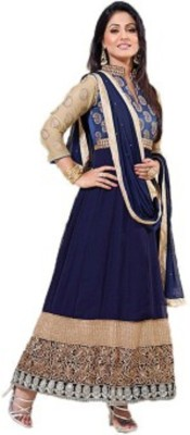 Vivacity Georgette Embroidered Semi-stitched Salwar Suit Dupatta Material