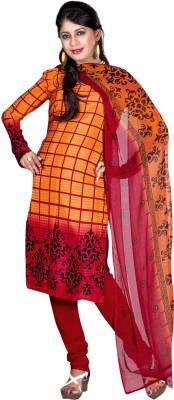 Fabdeal Crepe Printed Salwar Suit Material
