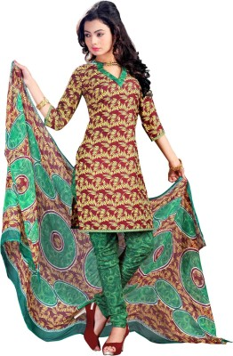 Parishi Fashion Crepe Embroidered Dress/Top Material