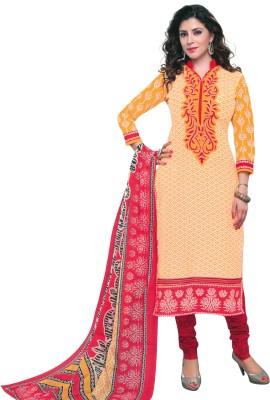 Shreeji Textiles Cotton Printed Salwar Suit Dupatta Material