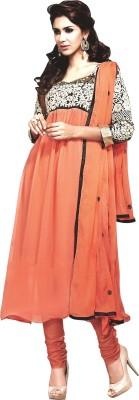 Reya Georgette Embroidered Semi-stitched Salwar Suit Dupatta Material at flipkart