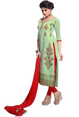Shree Vardhman Silk Embroidered Salwar Suit Dupatta Material