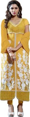 Vbuyz Georgette Embroidered Semi-stitched Salwar Suit Dupatta Material at flipkart