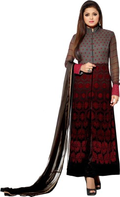 Vaishali Fashion Georgette Embroidered Semi-stitched Salwar Suit Dupatta Material