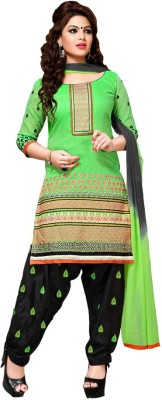 Style Mania Chanderi Embroidered Dress/Top Material