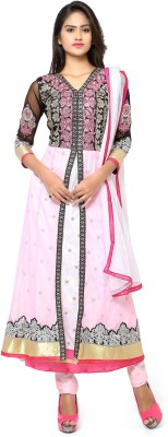 MF Retail Georgette Embroidered Salwar Suit Dupatta Material